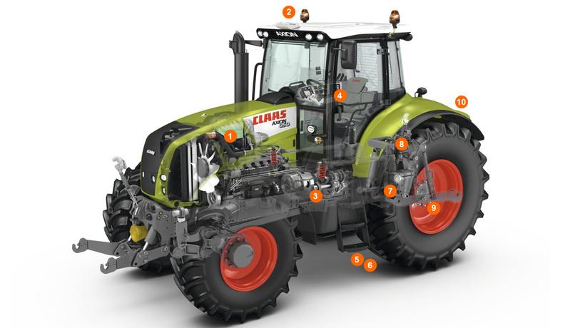 Схема трактора AXION 850–820