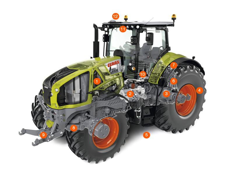 Схема трактора AXION 950–920