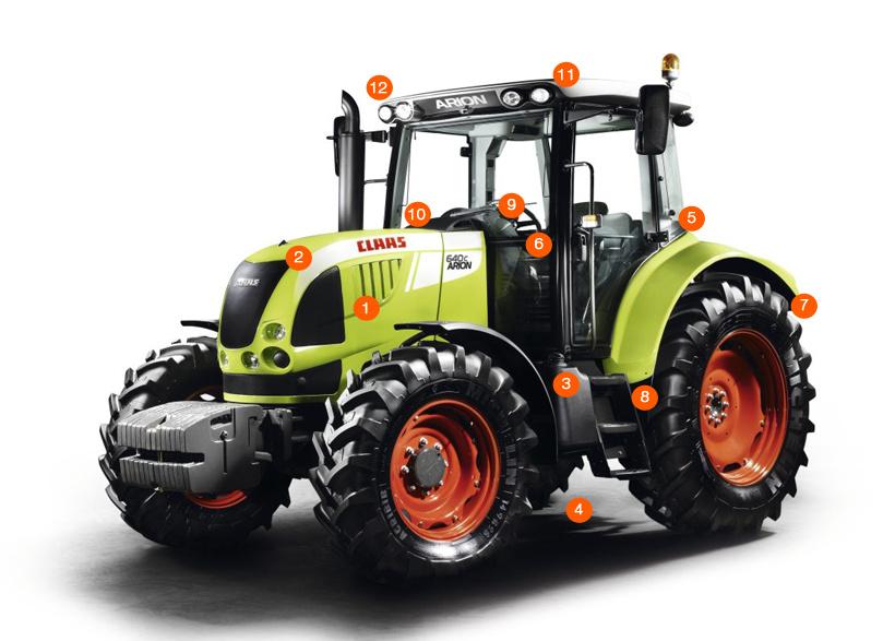 Схема трактора ARION 640–620 C