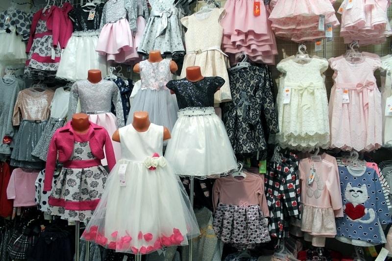 Ассортимент магазина детской одежды Бэмби