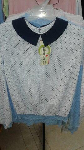 Блузка всиний горошек для девочки