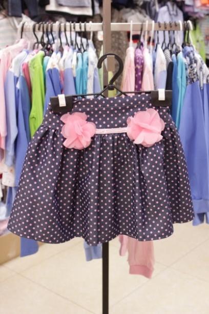 Детская юбка сцветочками