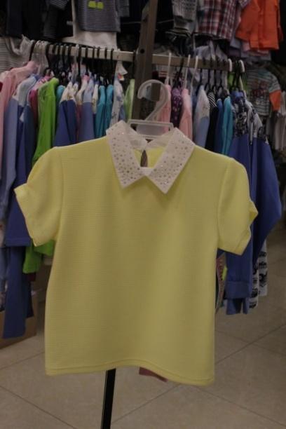 Детская блузка для девочки, желтая