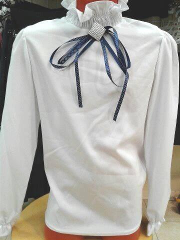 Детская блузка вшколу «Орхидея»