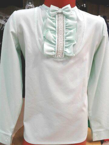 Блузка для девочки «Мята»