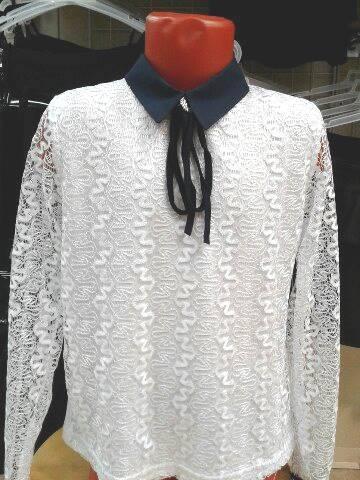 Блузка для школы для девочек «Ажур»