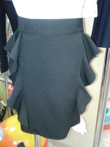 Школьная юбка черная для девочки «Волна»