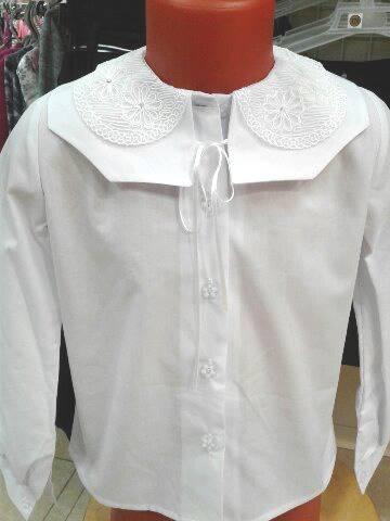 Блузка для школы для девочек «Кружева»