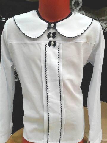 Школьная блузка сотделкой «Юность»