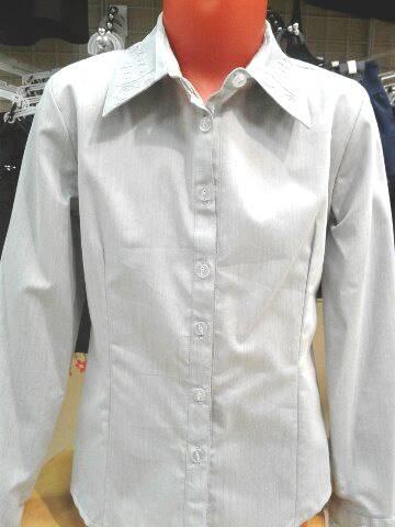 Школьная блузка серая«Серебро»