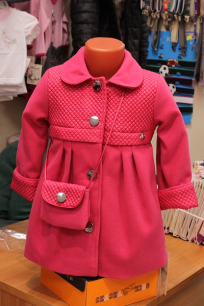 Пальто ссумочкой для девочки
