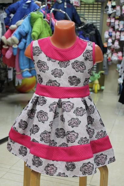 Нарядное платье для девочки «Розы»