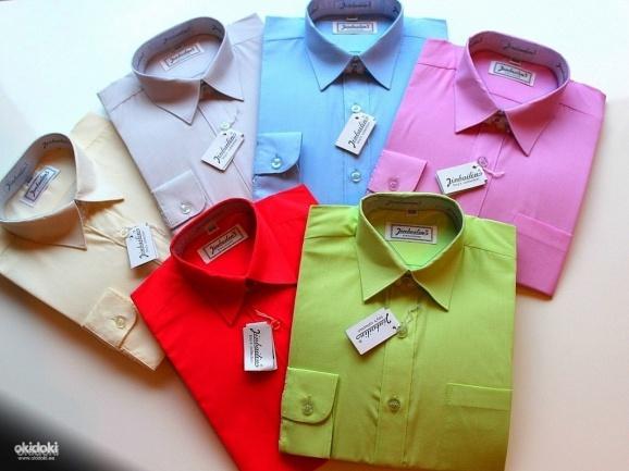 Рубашка для мальчика однотонная