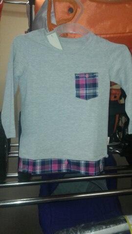 Блузка для девочки скармашком трикотаж