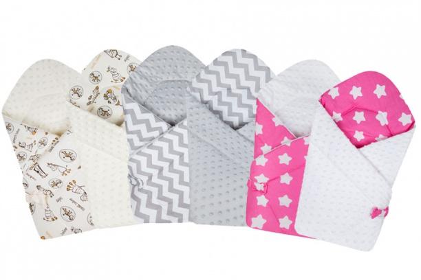 Конверт-одеяло для новорожденных двусторонний