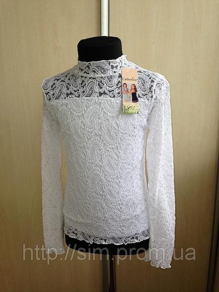 Школьная блузка-водолазка для девочки
