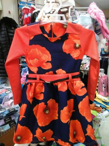 Детское платье «Маки»