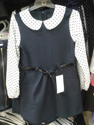 Платье-сарафан школьное для девочек