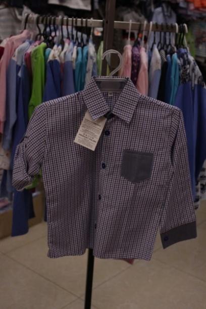 Рубашка для мальчика вклетку