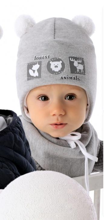 Шапочка для новорожденного «Лесные зверята»