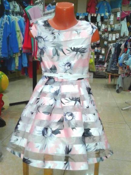 Нарядное платье для девочки «Розовая сказка»