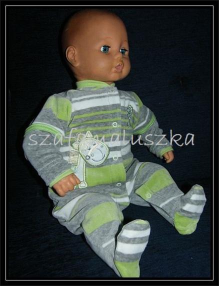 Комбинезон для новорожденных«В полоску» зеленый
