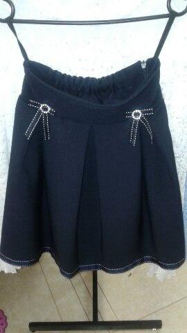 Синяя юбка школьная для девочек«Белла»