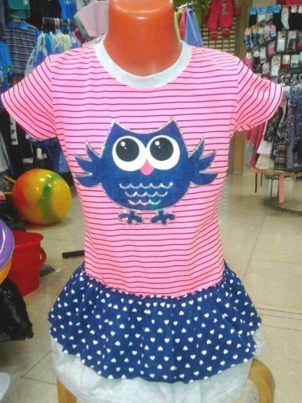 Детское трикотажноеплатье «Сова»