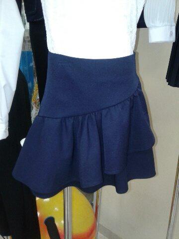 Синяя юбка для школы для девочек «Ласточка»