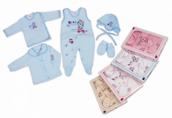 Комплект для новорожденного-5 предметов в коробке