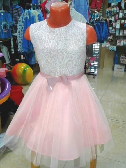 Нарядное платье для девочки «Розовое облако»