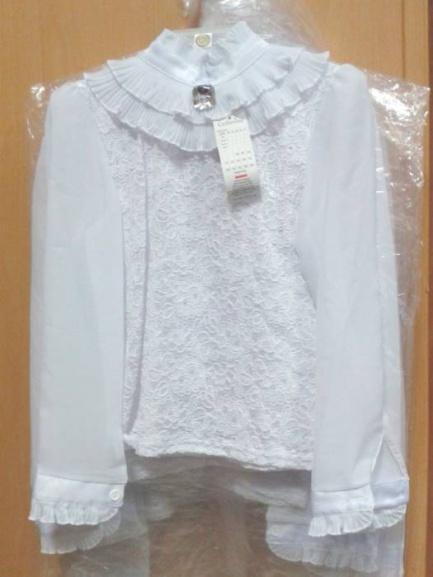 Блуза для девочек гипюр