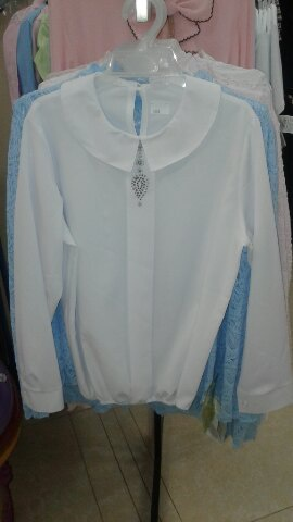 Школьная блузка состразами