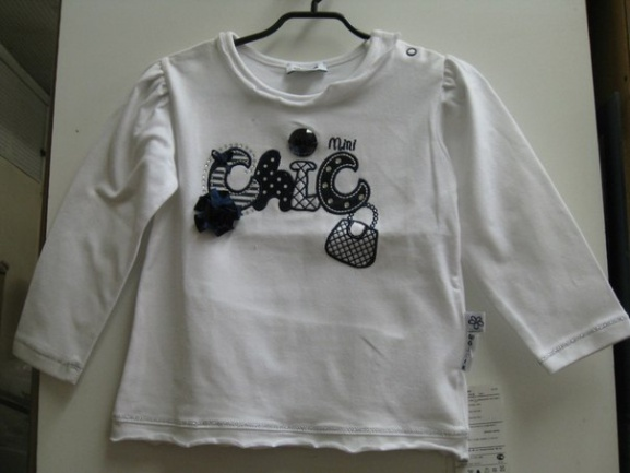 Детскаябелая футболка«Шик»