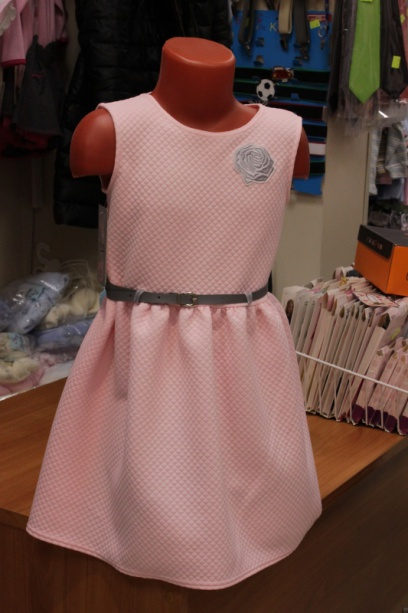 Сарафан розовый спояском для девочки
