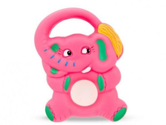 """Игрушка-грызунок """"Розовый слон"""""""