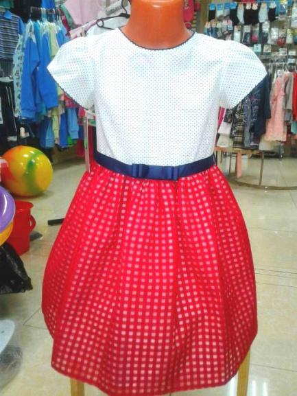 Нарядное платье для девочки «Красная юбочка»