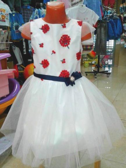 Детское нарядное платье «Гвоздика»
