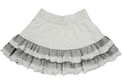 Юбка трикотажная (серая) для девочки