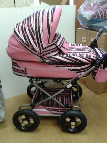 Детская коляска 2 в 1 Riko Balerina розовая
