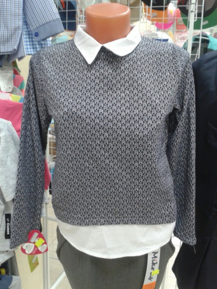 Белая блузка-обманка для школы
