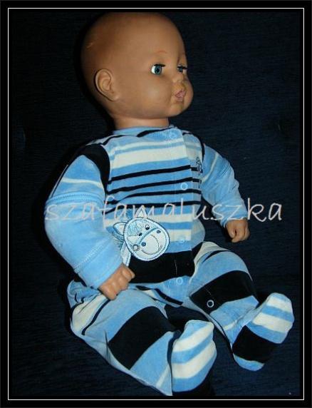 Комбинезон для новорожденных«В полоску» голубой