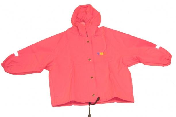 Непромокаемая детская куртка скапюшоном фуксия
