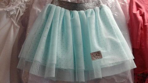 Детская юбка мятная