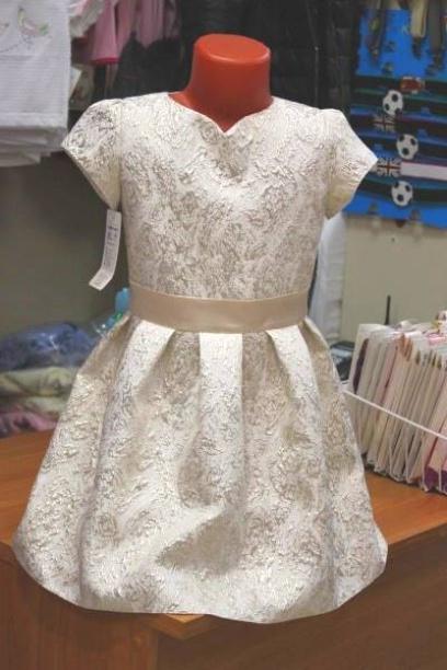 Нарядное платье для девочки,золотистое