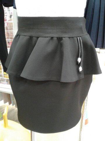 Черная юбка школьная, сбаской«Аврора»