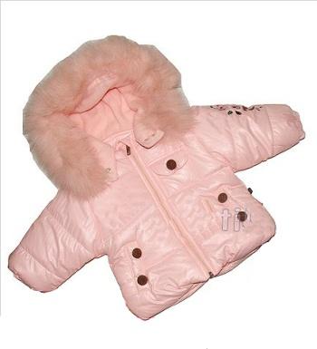 Детская куртка утепленная Wojcik (розовая) для девочек