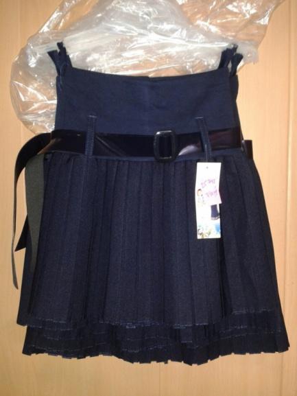 Школьная темно-синяя юбка для девочек