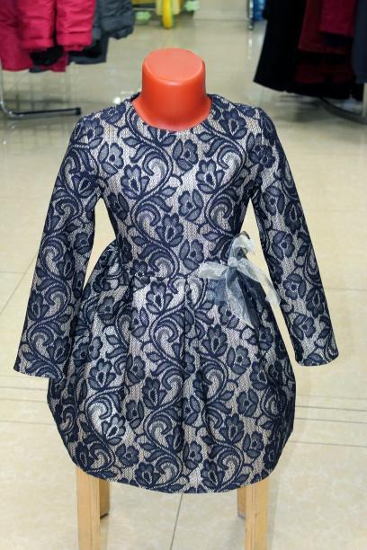 Нарядное платье для девочки «Море»