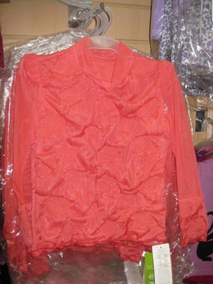 Блуза красная для девочки «Огни»